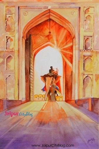 Amer Fort Jaipur Painting