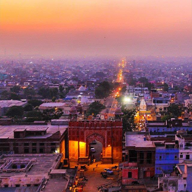 Pink City View