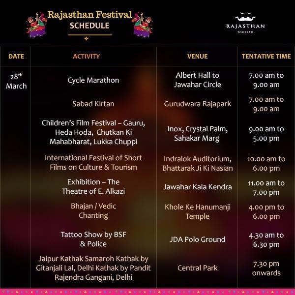 Rajasthan Festival Schedule