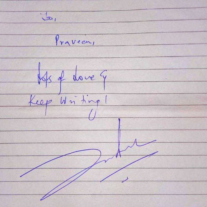 Shah rukh khan autograph