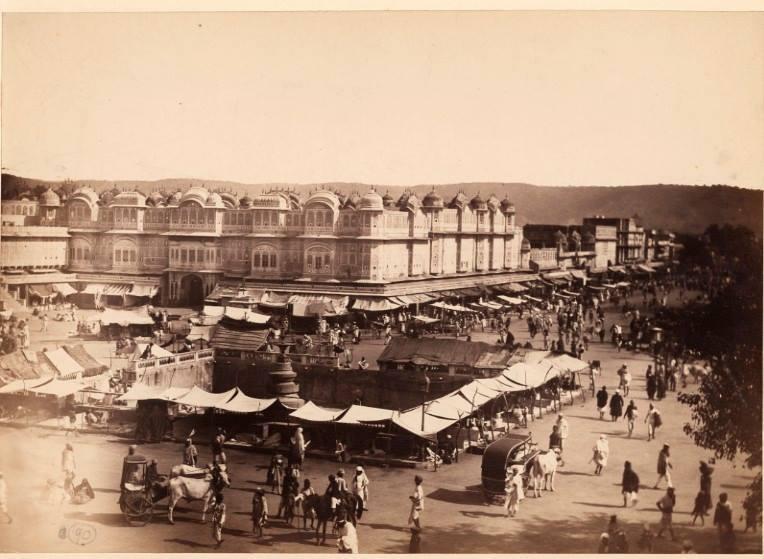 jaipur ki sadkein aur library, 1870