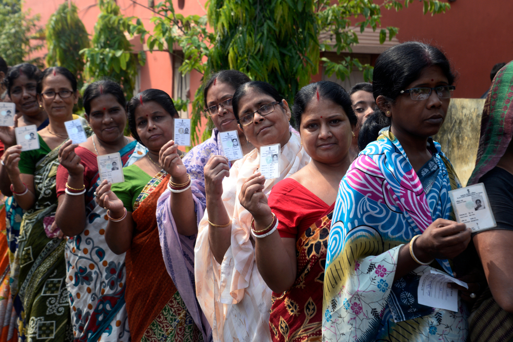 Indian WOMEN VOTING IN ELECTION