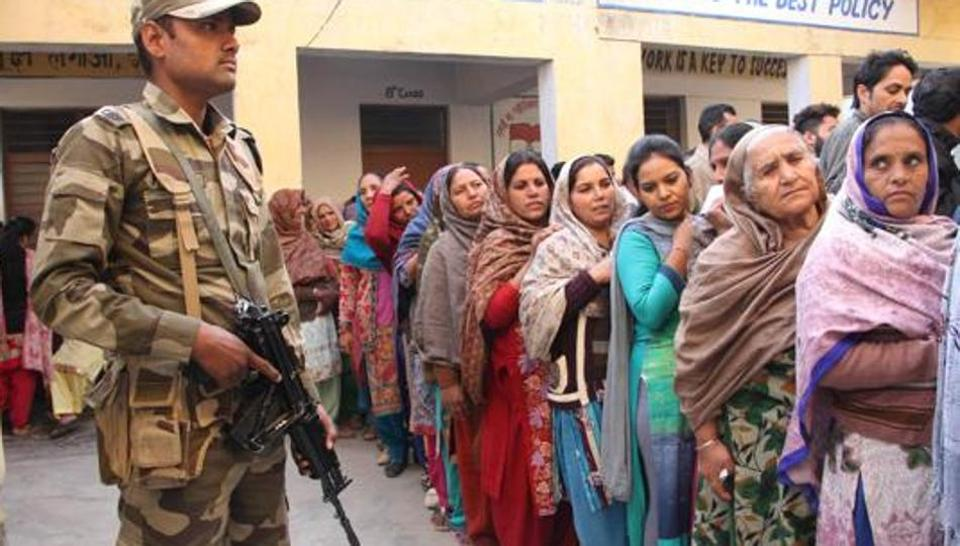 ARMY DURING VOTING IN INDIA